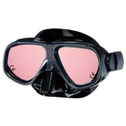 IST Vega Black Silicone Tinted Lens Scuba Diving/Snorkelling Mask