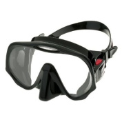 Atomic Aquatics Frameless Single Lens Scuba Diving Mask in Black Silicone