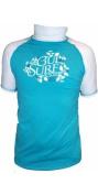 Gul Junior Short Sleeved Surf Rash vest BLUE/White RG0332