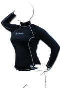 UK Ladies Size 8 CSR RASH VEST with Long Sleeves, High neck. TOP QUALITY Soft Fabric. Black