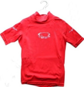 Childs (Age 1-2 years) (Size JS) Red TWF Rash vest / UV Sun Guard. External Stitching For Superior Comfort.