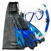 Phantom Aquatics Adult Mask Fin Snorkel Set, with Snorkelling Gear Bag