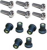 M5 Neoprene Well Nut M5 With 20mm Stainless Steel Pozi Screw
