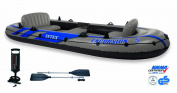 EXCURSION 5 BOAT SET WITH ALUMINIUM OARS AND PUMP #68325