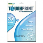 Memory-Map Toughprint Waterproof Paper - Laser - 25 A4 Sheets
