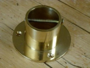 Decking Rope Post Fitting-Rope Cup End Brass Upto 24mm