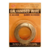 1MM X 30M GALVINISED WIRE FOR HOME, CAR OR GARDEN