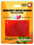 Grabber Outdoors - Emergency Rescue Mirror- Day And Night Reflective Surfaces