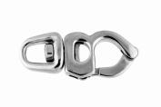 Dutyhook 85X36 Trigger Snap Shackle With Swivel Eye, Stainless Steel AISI 316