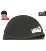 NCW Cornwall Beanie Hat Made With 3mm Neoprene Stretchy Very Warm / Waterproof, Black