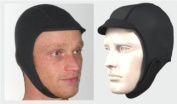 Peaked Wetsuit Surf Cap Hat Hood. 2.5mm Finemesh Super Stretch Neoprene. Easy Fit. Quality product by NCW Cornwall
