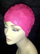 Ladies Pink Starfish Swimming Bathing Cap Swim Hat Small Fitting Fashy Retro Vintage Style
