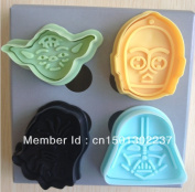 New 3d Stamp Star Wars Set Cake Cookie Cutter Fondant Decorating Tools