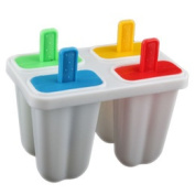 Diy Ice Cream Frozen 4pcs Popsicle Maker Mould Icepop Block Icy Pole Lolly Set  [22096|01|01]