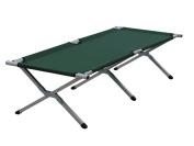 Yellowstone Aluminium Folding Camp Bed - Green