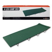 Milestone Camping 4 Leg Camp Bed - Green