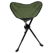 Telescopic Tripod Folding Fishing Stool Seat Chair with Carry Bag Camping Olive