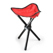 Portable Foldable Camping and Fishing Stool - Red