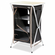 Gelert 4 Shelf Cupboard - Jet Black/Stucco