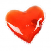 1 Reusable Gel Hand Warmer / Heat Pack - Instant Heating - Red Heart