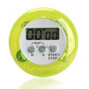 V1nf Round Magnetic Lcd Digital Kitchen Countdown Timer Alarm With Stand Green