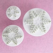 Cake Decorating Tools 3pcs Snowflake Cookies Fondant Sugarcraft Cake Decorator Mould Plunger Cutters Tool