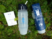 NEW 2013 Travel Tap 'Flip Spout ' 800ml pure water filter bottle - 1600 litres