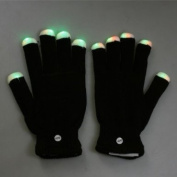 7 Mode LED Rave Light Finger Gloves