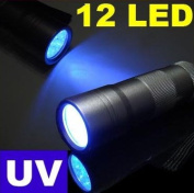 Alluminum 12 LED Torch UV Flashlight 400nm UV Torch. Buy from Campells for quick delivery from the UK.
