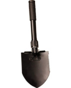 Mini Pick Shovel Strong folding 3 way shovel with in built pick, Compact and lightweight in black Cordura pouch.