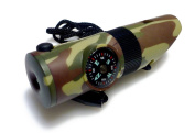 Whistle 18cm 1 Uses, Bush Gear, survival, camping, hiking Equipment, [Camouflage]