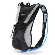 Black Hydration Pack Water Rucksack Backpack Cycling Bladder Bag Hiking Climbing Pouch