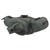 Hiking Fishing Waist Bum Belt Bag Fanny Pack Travel Hiking 4 Pockets Black