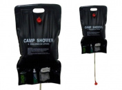SunnCamp Platinum 20ltr Solar Shower with Storage Pockets - Black
