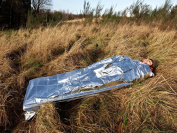 SPACE FOIL BLANKET SURVIVAL SLEEPING BAG FOR EMERGENCIES - CLIMB IN TODAY AND LIVE TOMORROW