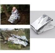 Factorykiss Foil Survival Rescue Emergency Blanket Waterproof Silver