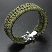 Adjustable Buckle Paracord Survival Parachute Cord Bracelet Buckle Whistle New