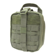 Condor Rip-Away EMT Pouch First Aid Kit Holder Webbing MOLLE Tri-Fold Case Olive
