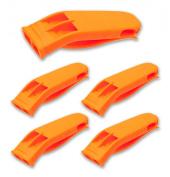Orange Safety Whistle - 5 Pack