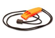 Orange Safety Whistle with Lanyard