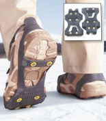 Non Slip Snow & Ice Grippers Cleats Spikes Grips Crampons Universal Traction Aid Slip-on Snow Shoes UK Sizes from 2.5 to 11