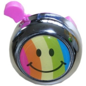 Smiley Face Rainbow Bicycle Bell - Pink