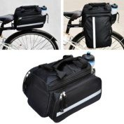 Expandable Bicycle Pannier Saddle Bag with Raincover