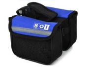 New Bicycle Bike Cycling Sport Double Pannier Handlebar Bag Frame Front Tube Bag Mobile Phone Holder Pouch