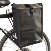 PEDALPRO BLACK SINGLE WATERPROOF CYCLE PANNIER BAG BIKE/BICYCLE RACK/COMMUTE