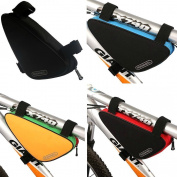 Bike Bicycle Triangle Nylon Saddle Frame Tube Bag Multicolor Choose