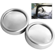 2 X Car Vehicle Blind Spot Wide Angle View Round Mirror