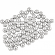 Silver Tone 4mm Bearing Steel Balls Bicycle Bike Spare Parts 100 Pcs