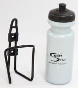 Sport DirectTM SBT01 600ml Bottle & Cage - Silver