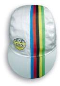 Lazer Cycling Cap. White with WORLD CHAMPION Stripes XXS-M